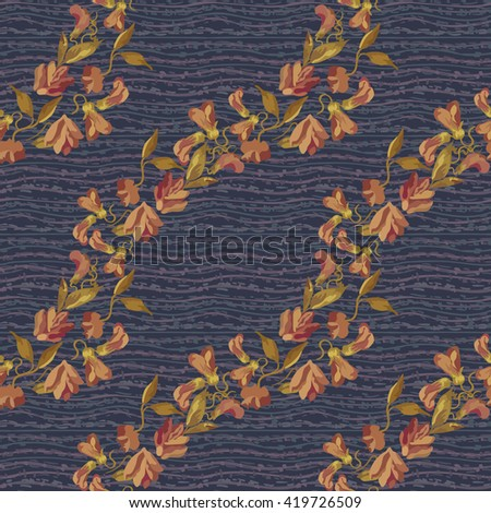 Floral vintage seamless pattern - stock vector
