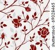 Floral wallpaper - stock vector