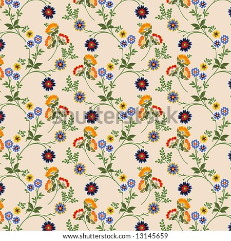floral wallpaper - just like the kind on the wall of your bedroom! - stock vector