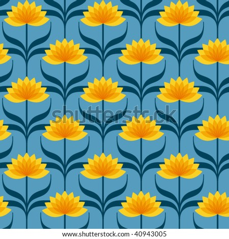 Floral wallpaper pattern - stock vector