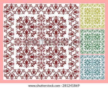 Floral wallpaper pattern vector illustration Floral antique background Ornamental elegant flower designs in pastel colors Swirly plants Seamless pattern Great for wall, tiles, carpets, fabric print  - stock vector