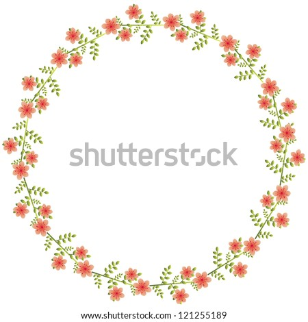 Floral wreath  - stock vector