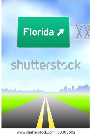 Florida Highway Sign Original Vector Illustration