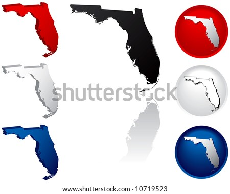 Florida Icons - stock vector