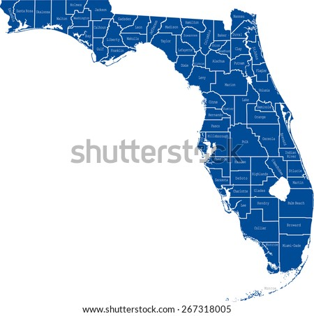 Florida County Map Stock Images RoyaltyFree Images Vectors - Fl counties map