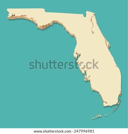 Detailed Map Florida All Counties Main Stock Vector - Map of florida usa