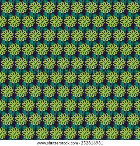 Florist green blue vector background - stock vector