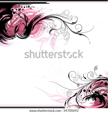 flourishes inc background - stock vector