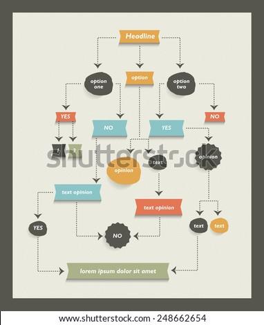 Flow chart diagram scheme infographic algorithm stock vector flow chart diagram scheme infographic algorithm alelement ccuart Image collections