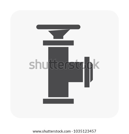 Flow Control Valve Icon On White Stock Vector 1035123457 Shutterstock