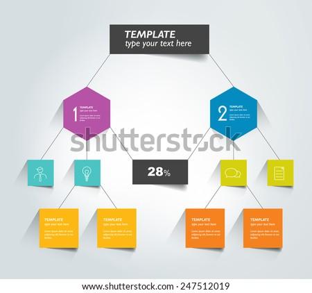 Flowchart tab. Infographic element. - stock vector