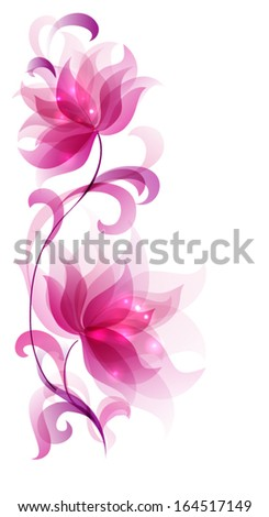 Flower abstract - stock vector