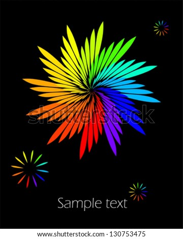 Flower - abstract design element - stock vector