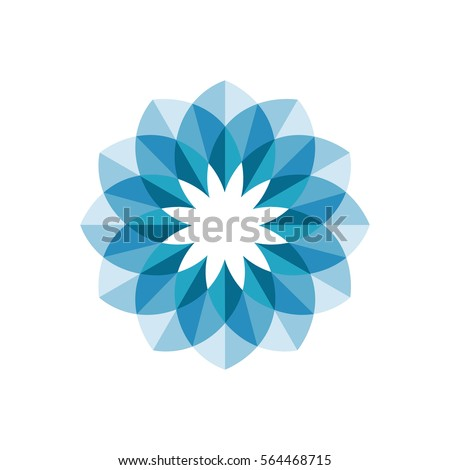 Flower abstract logo design. Vector.