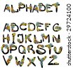 flower alphabet - stock vector