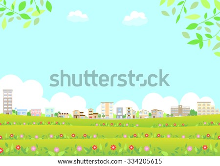 flower and city