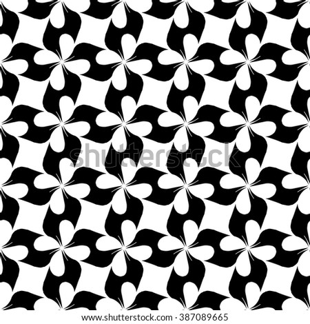 Flower and rhombus geometric seamless pattern. Fashion graphic background design. Modern stylish abstract texture. Monochrome template for prints, textiles, wrapping, wallpaper,. VECTOR illustration