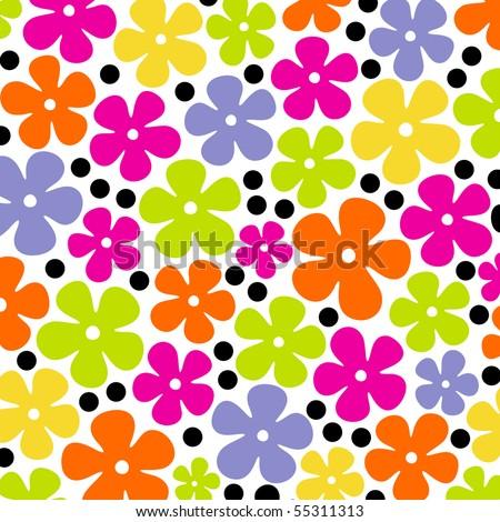 flower background design - stock vector