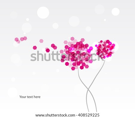 flower background for your text - stock vector