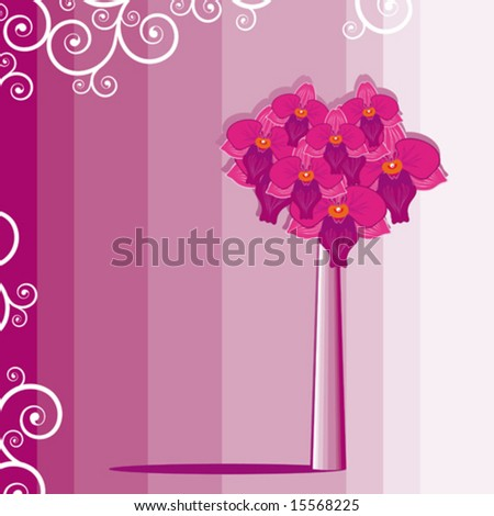 Flower background Orchids Square