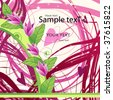 flower background pink - stock vector