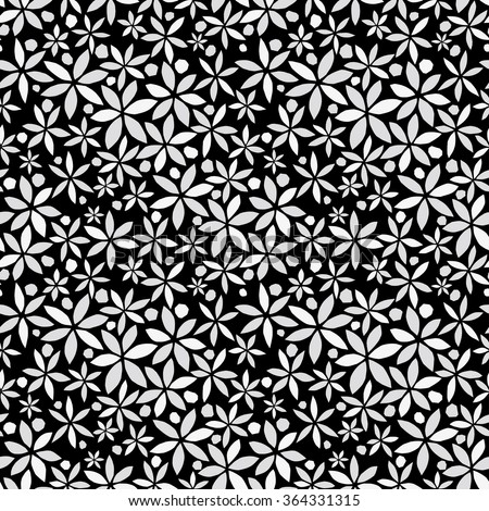 Flower background. Seamless pattern.Vector. - stock vector