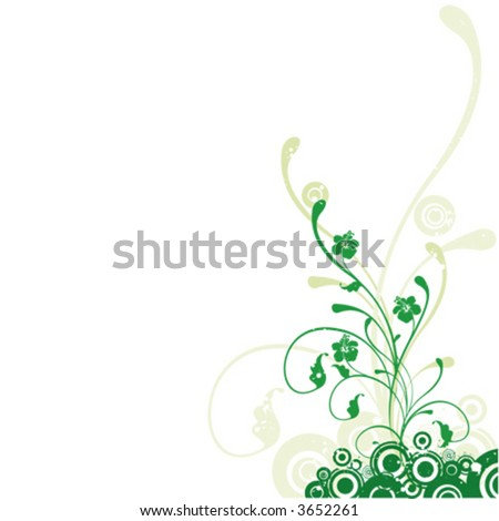 Flower background, spring - stock vector