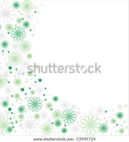 Flower background, vector