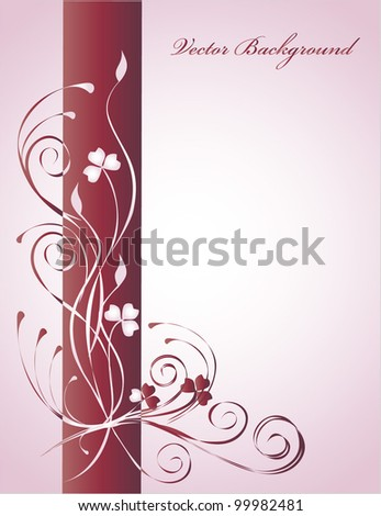 Flower background, vector - stock vector