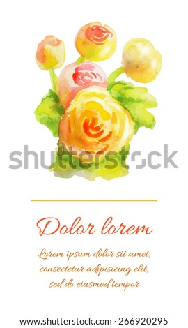 Flower background with place for text
