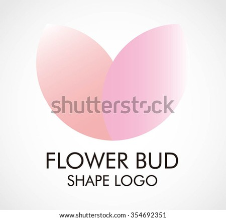 flower bud little grow abstract vector and logo design or template plant ecology business icon of