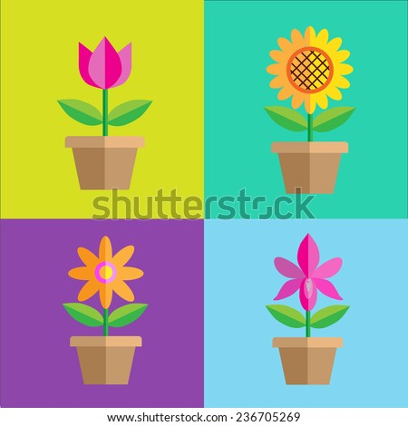 Flower collection set  design vector EPS10