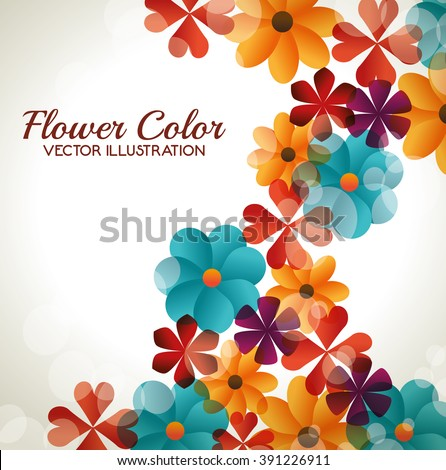 flower color design  - stock vector