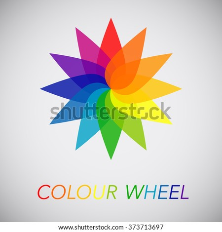 Flower Color Wheel Stock Vector 373713697