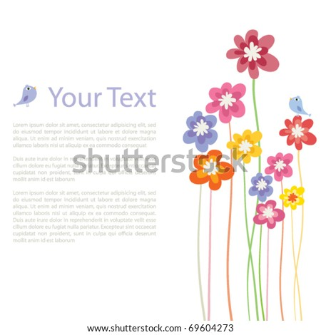 Flower colorful background - stock vector
