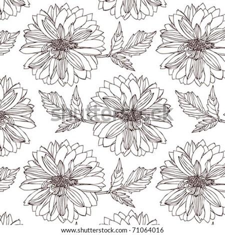Flower Dahlia background - stock vector