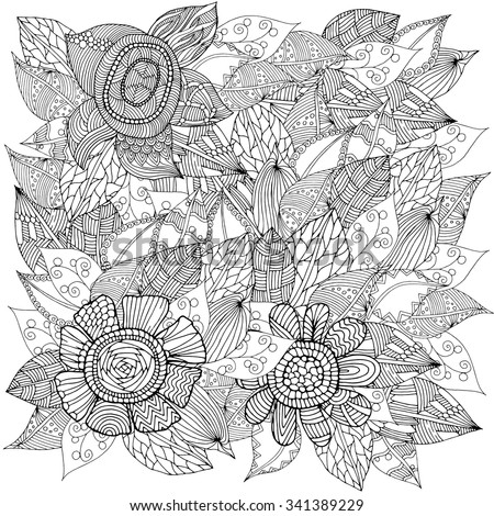 Flower decoration pattern - stock vector
