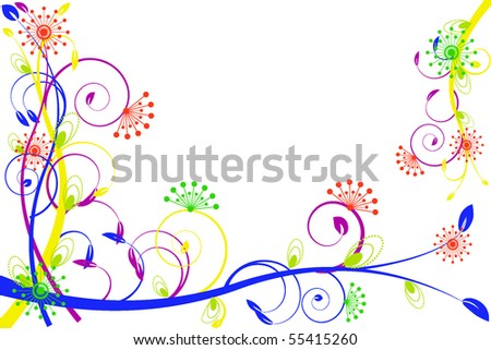 flower decoratively stylized abstraction illustration