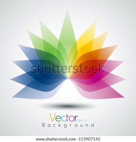 Flower design abstract background in vector format - stock vector