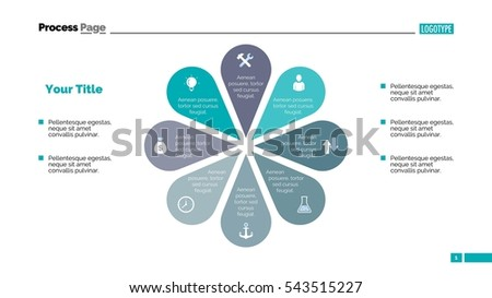 Flower Eight Petals Slide Template Stock Vector 543515227 - Shutterstock