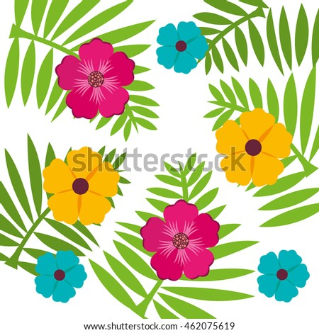 flower floral nature icon vector isolated graphic