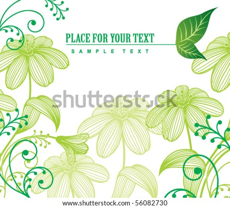 flower frame - stock vector