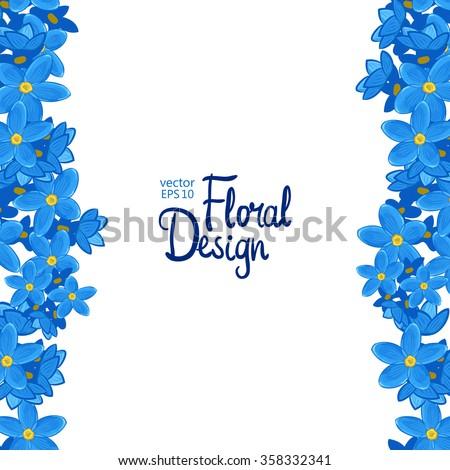 blue flowers border design wwwpixsharkcom images