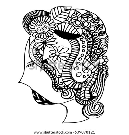 Chameleon Coloring Book Adults Stock Vector 636508310 - Shutterstock