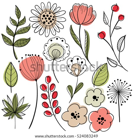 Hand Drawn Flowers Stock Images, Royalty-Free Images ...