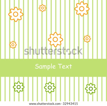 Flower greeting card, summer background- - stock vector