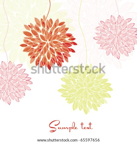 Flower greeting invitation card - stock vector