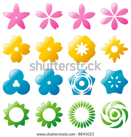 flower icon - stock vector