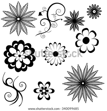 flower icon a - stock vector
