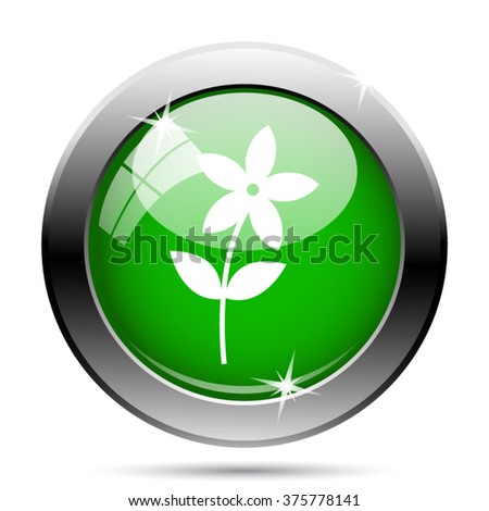 Flower  icon  icon. Internet button on white background. EPS10 vector.